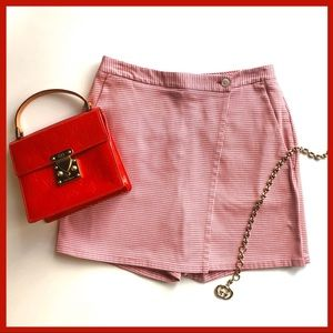 BROOKS BROTHERS Twill Houndstooth Skort Red Shorts